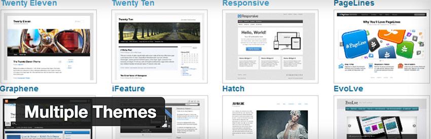 Multiple Themes - WordPress : les meilleurs plug-ins pour community managers