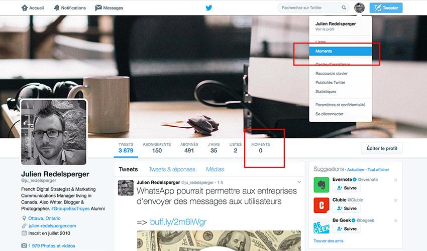 Bien utiliser Twitter Moments: astuces et conseils